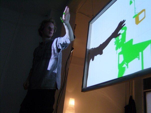 Audience interaction showing shadow and icons