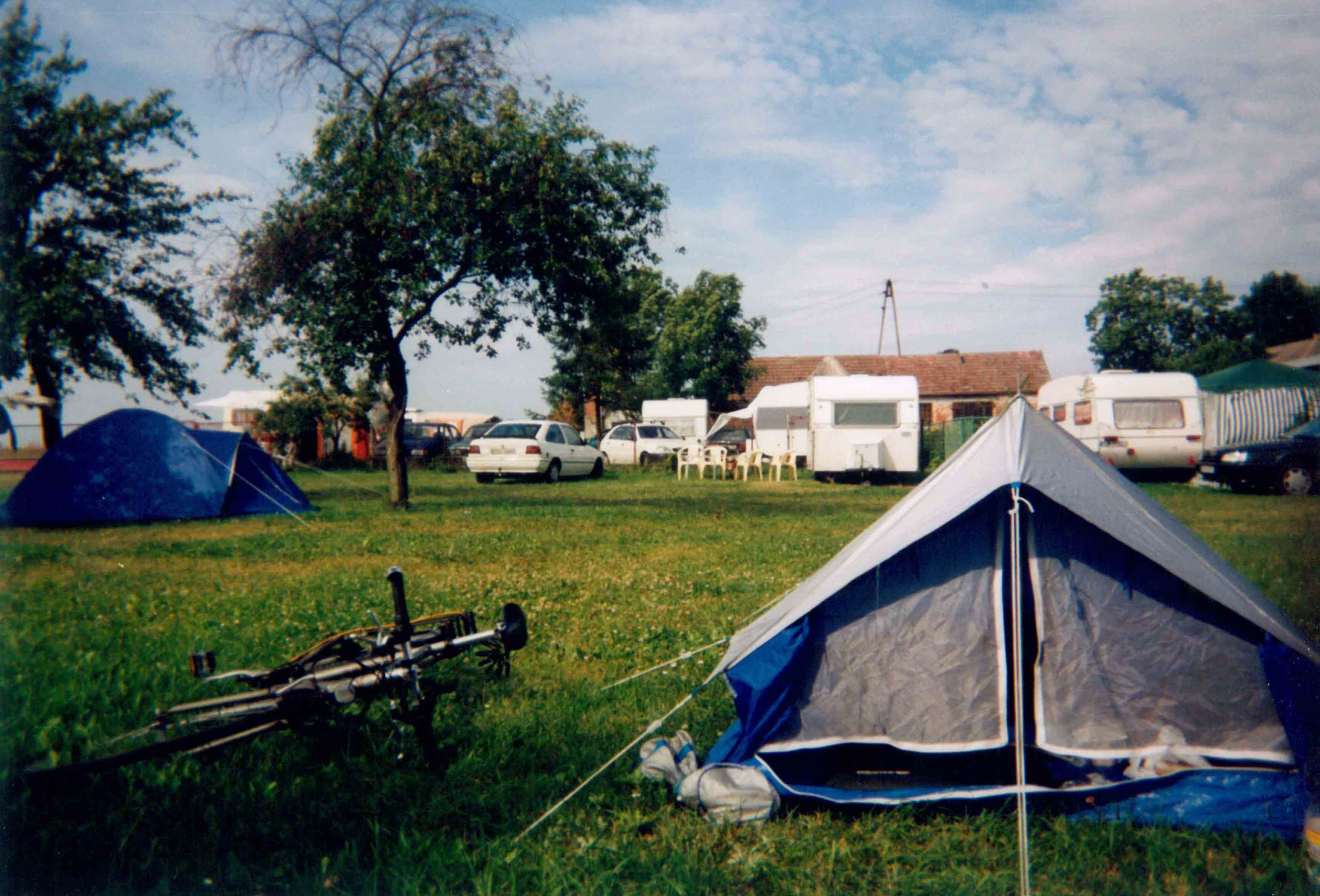 Tent and Bike